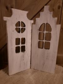 2-luik houten huis