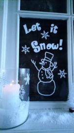 statische raamsticker | let it snow