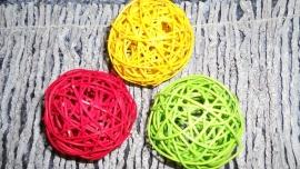 pitriet ballen 8cm rood/geel/groen