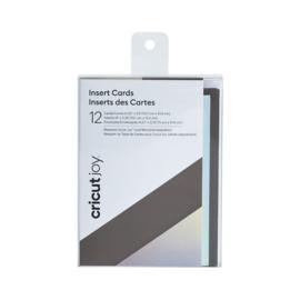 Cricut Joy ™ -insteekkaarten, grijs / zilver, mat holografisch