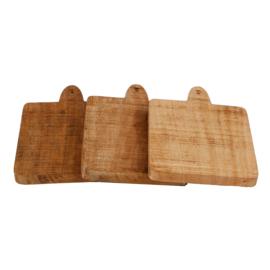 rekje met houten onderzetters