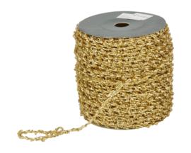 metallic glitter elastisch koord goud