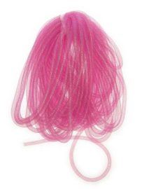decoslang tube roze 10 mm | 2,5 mtr