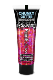 Chunky Glitters face & body gel | roze