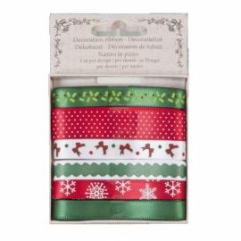 ribbon rood/groen/wit kerst