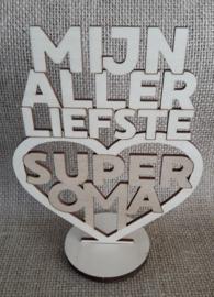 tekst op voet | super oma