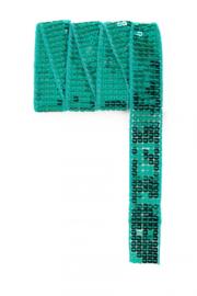 paillettenband plat groen