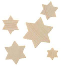 houten sterretjes 7-dlg