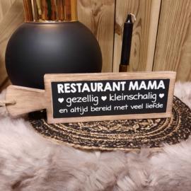 tekst plank langwerpig | restaurant mama
