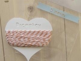 5 meter Divine touw / bakkerstouw met kaartje | oranje