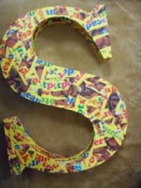 piepschuim letter S