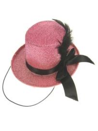 midi hoge hoed pink glitter