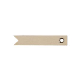 houten blanco label met eyelet