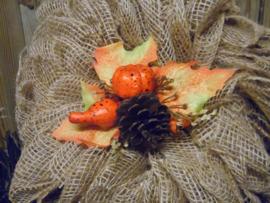 herfst toef  oranje/bruin tinten