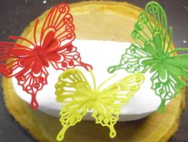vlinder baroque rood/geel/groen