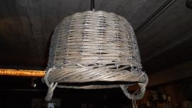 rotan hang lampenkap mand
