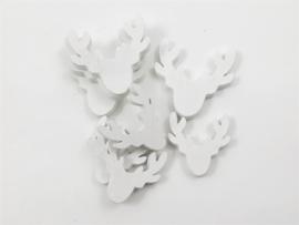 houten rendierhoofdjes wit