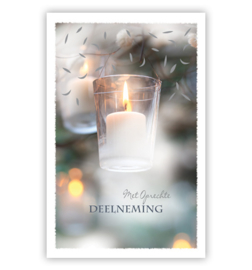 condoleance kaart | kaarsje in boom