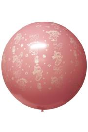 mega ballon | hoera een meisje
