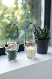 glazen cactus met kaars | S