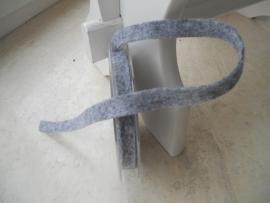 vilten lint 1cm grijs