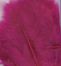 marabou veertjes fuchsia roze