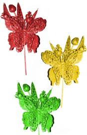 decoratie vlinder op stok