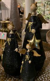 engel staand zwart/goud | Small