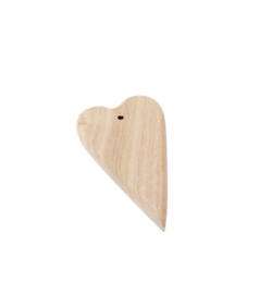 houten hart langwerpig