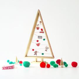 kerstboom 3-delig hout