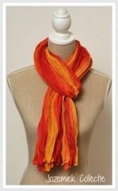 sjaal langwerpig | crushed oranje/geel/rood