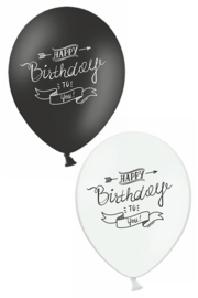 ballonnen zwart/wit | Happy Birthday to you