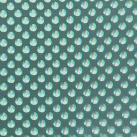 Premium Vinyl ™ Holografische bubbles - permanent | bright teal