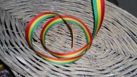 medaille lint | rood/geel/groen 2,5cm