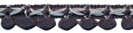 mini pompom band antraciet/grijs