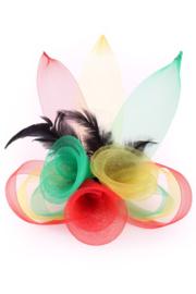 broche/haarclip tule 3 bloemen