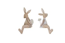 houten konijn zittend | S