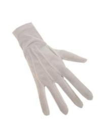 handschoen kort wit XL