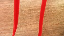 velvet lint rood