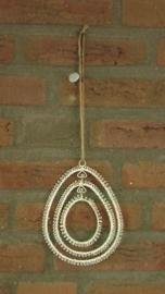 vintage 3-delige paasei hanger van draad BRAXTON