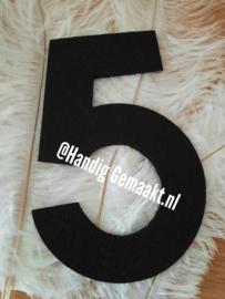 grote 5 | zwart