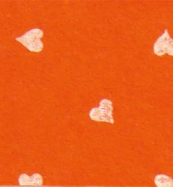 vilt met hartjes oranje