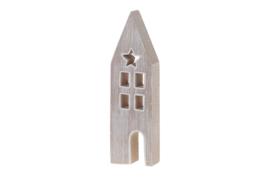 houten huisje | licht grijs
