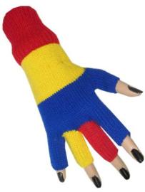handschoen | rood/geel/blauw