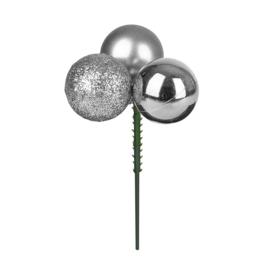 bijsteker kerstbal | zilver