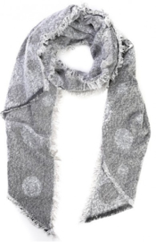 sjaal | grijs met stippen