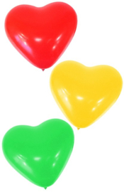 ballonnen hartjes rood/geel/groen