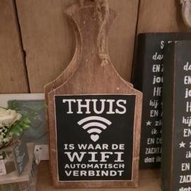 Tekstbord broodplank thuis WiFi