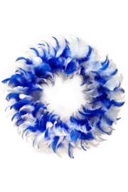 veren krans blauw/wit