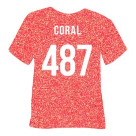 poli-flex pearl glitter | coral